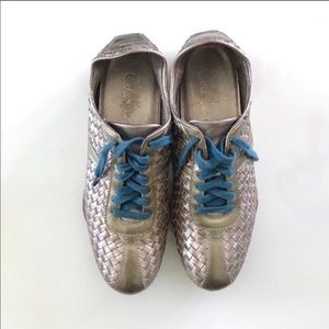 Cole Haan Nike Bria Gold Woven Shoes 7.5